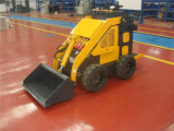 23HP Pedal Standing Mini Skid Steer Loader with Trencher clouded