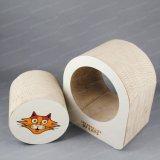 널을 긁어 서류상 물결 모양 자연적인 애완 동물 나무 매트 고양이