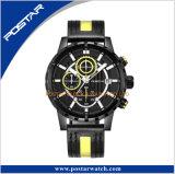 La montre-bracelet personnalisée spéciale des hommes de chronographe de tête de vis