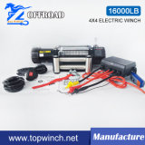 SUVのオフロードウィンチの回復電気ウィンチ(16000lb)