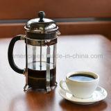 L'acciaio inossidabile degli articoli della cucina versa sopra il POT del caffè