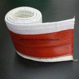 ホック及びループが付いている熱のInsualtionのシリコーンの上塗を施してあるガラス繊維Firesleeve