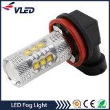 H11 H9 H8 LED 안개등 80W 800 루멘 공장 가격 안개등 전구