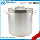 04の様式のステンレス鋼は熱伝導のコンバインの底スープ在庫の鍋を紙やすりで磨いた