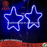 Lampade al neon dell'indicatore luminoso della flessione di motivo del PVC della stella 6W del LED con Ce RoHS per la decorazione di festa