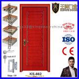 Puertas interiores de madera del dormitorio del rubor del precio bajo