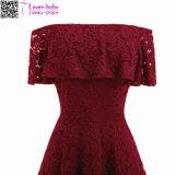 Lacet neuf de bonne qualité du créateur 2017 plus robe L36175-3 de femmes de vente en gros de taille la grosse