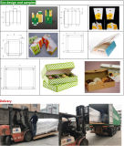 Máquina de la carpeta de Gluer del rectángulo de torta y del rectángulo de la pizza con la esquina cuatro seises