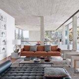 Sofás modernos em couro de estilo italiano para o hotel (L019)