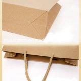 OEM / ODM acceptée sac en papier Kraft Kraft avec poignée pour les achats