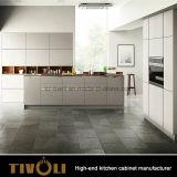 De nieuwe Keukenkasten Van uitstekende kwaliteit tivo-0065V van de Lak van het Ontwerp van de Keuken Fingerpull Duidelijke Witte