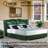 현대 작풍 녹색 가죽 침대 가구 Fb3070