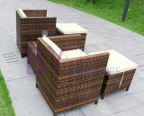 Im Freienbalkon-Hof-Landhaus-Pedal-Form-Rattan-Tisch-Stuhl-Kombination