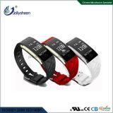 Beste Populaire Armband 0.96 van Bluetooth van het Tarief van het Hart ' oled het Scherm van de Vertoning met de Riem van de Pols TPU en 90mAh IP67 Ce, RoHS, FCC Certificatie