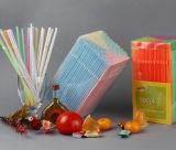 Flexible de plástico de alta calidad Pajas en la caja de PVC