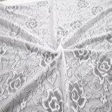 Merletto di lavoro a maglia altamente elastico del tessuto con 85%Nylon 15%Spandex