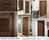 Personalizar la chapa de madera de nogal de alta calidad de la puerta de madera