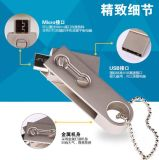 2018 El nuevo disco de U Stick Pen USB Flash Drive Pendrive OTG de plata Se9 128MB-128GB