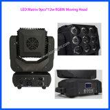 Licht des LED-Matrix-bewegliches Kopf-9PCS*12W RGBW
