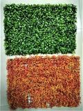 Les panneaux de clôture de l'herbe verte artificielle pour la décoration