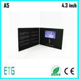 昇進LCDスクリーンのビデオパンフレットの挨拶状のビデオInvitaitonのカード