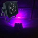 Het nieuwe APP Mobiele Licht van het 15 Draadloze LEIDENE Op batterijen van de Graad 12*15W 6in1 Rgbaw PARI van Freedoom