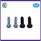 Aço Carbono / 4.8 / 8.8 / 10.9 Galvanizado / Zinc Flower Pan Head / Talha Tail Self-Tapping Screw para Móveis / Cozinha / Gabinete