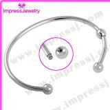 Il cuore/modifica incanta l'acciaio inossidabile dei monili delle ceneri di Pulseras Mujer Pulseiras del braccialetto
