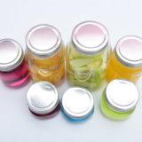 Bola de cristal forma Haonai Mason Jar/vidrio Jam Jar/vidrio alimentos frasco con tapa metálica de plata, Recipiente de vidrio