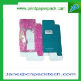 Коробка изготовленный на заказ дух бумаги окна PVC косметическая упаковывая