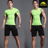 Pantaloni di scarsità della tuta sportiva di sport della camicia di compressione di modo degli uomini