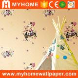 Los niños de dibujos animados Papel tapiz de habitación barata en vinilo resistente al agua