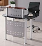 Meubles de bureau modernes de premier de réception Tableau en verre de bureau (HX-GL208)