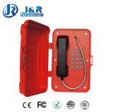 Telefone na Internet para o túnel, telefone sem fio industrial, telefone VoIP à prova de intempéries