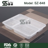 Wegwerfplastiknahrungsmittelbehälter mit Kappe
