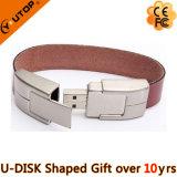 Изготовленный на заказ привод вспышки USB подарка браслета кожи логоса (YT-5111)