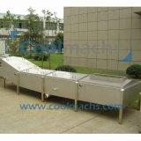 Tipo contínuo equipamento de descascamento da máquina da correia/esterilização para o alimento