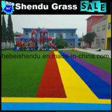 Rotes künstliches Gras 20mm für Dekoration
