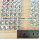 De ronde AcrylVersieringen van het Plakboek van de Kristallen Diamante van de Gem van de Stickers van het Bergkristal vlak Achter Zelfklevende Kleverige (tp-032)