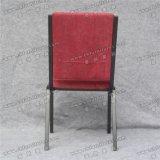 Yc-G71-1金属教会椅子をスタックする快適で赤いカバーファブリック