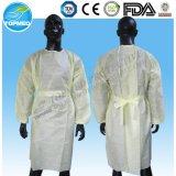 Pun¢os elásticos/vestido caliente hecho punto del aislamiento de la venta SBPP/PE/PP+PE/SMS del pun¢o/vestido quirúrgico barato