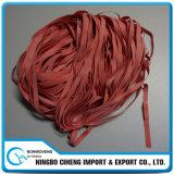 Gomas elásticos fuertes coloreadas rojo barato del estiramiento pequeñas para los vidrios del salto