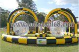 Publicidade Zrob insufláveis Ball Racing carro via para venda