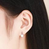 Retro Elegant voor de Juwelen van Vrouwen 925 Echte Zilveren Vierkante Oorringen van de Nagel van de Parel van de Vorm