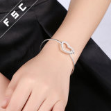 Het zilver plateerde de Modieuze Armband van de Armband van het Manchet van het Liefje voor de Vriend van het Meisje