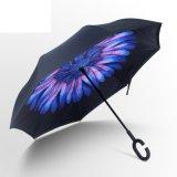 [دووبل لر] داخلة - خارجا مظلة مع [ك] شكل مقبض لأنّ ترقية