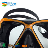 Máscara de mergulho de baixo volume de silicone de alta qualidade Freediving Mask