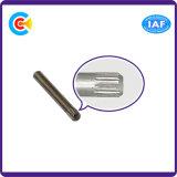 DIN/ANSI/BS/JISの炭素鋼かステンレス製の4.8/8.8/10.9の電流を通された圧延Pinの機械装置または企業の締める物