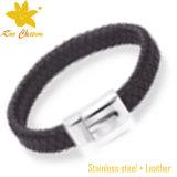 Stlb-005 2016卸し売り平らな編みこみの革ブレスレット