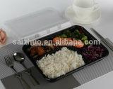 Recipiente plástico descartável do almoço da espessura de 5 compartimentos